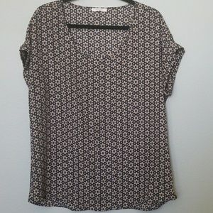 Pleione short sleeve blouse size medium